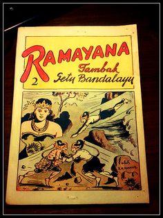 Ramayana 2 Tambak Setu Bandalayu by R.A. Kosasih. Paperback: 108 pages. Publisher: Melodi, 1966.