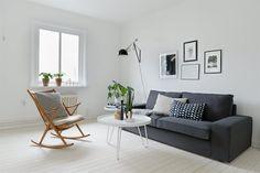 White, #minimal, #Scandinavian living room, #home