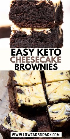 These Low Carb Keto Cheesecake Brownies are the most delicious invention ever. Each square is insanely chocolatey, rich, fudgy and perfectly paired with a creamy cheesecake filling. And for only carbs I think we have a pretty good deal! Keto Desserts, Keto Dessert Easy, Keto Snacks, Dessert Recipes, Dinner Recipes, Diabetic Snacks, Sugar Free Desserts, Keto Foods, Lunch Recipes