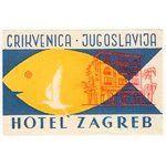 HOTEL ZAGREB (CRIKVENICA-CROATIA)) luggage label