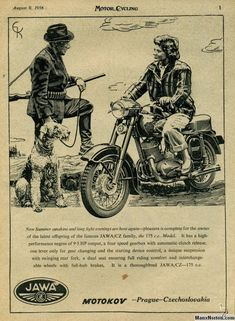 Classic and Vintage Jawa Motorcycles at Sheldon's EMU Scrambler Custom, Ducati Scrambler, Scrambler Motorcycle, Bobber, Vintage Cafe Racer, Vintage Bikes, Poster Ads, Poster Prints, Motorcycle Posters
