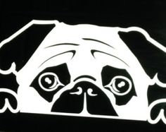 Pug Decor Dog Decal vinyl laptop sticker car by HouseHoldWords