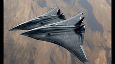 US Air Force Futuristic Style Next Generation Long Range Strike Bomber