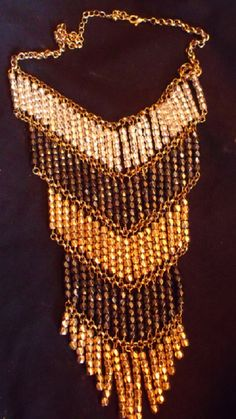 Vintage Boho Necklace Retro Hippie Chevron Drop by EstatesInTime