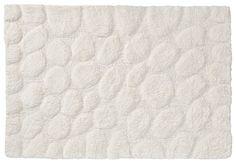 Sealskin badmat 'Pebbles'. Kleur: ivoor. Materiaal: katoen. Afmeting: 60x90 cm