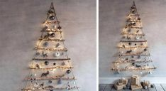 Ladder Decor, Christmas Tree, Christmas Things, Diy, Holiday Decor, Home Decor, Tiny Apartment Living, Ikea Christmas, Teal Christmas Tree