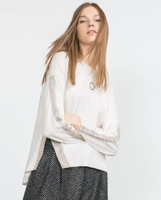 Image 2 of FINE SWEATSHIRT WITH SIDE VENT from Zara