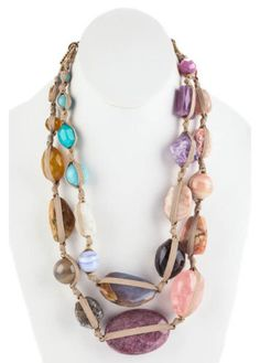 NWT STEPHEN DWECK Bronze Multicolor Multiple Gemstone Strand Necklace - http://elegant.designerjewelrygalleria.com/stephen-dweck/nwt-stephen-dweck-bronze-multicolor-multiple-gemstone-strand-necklace/