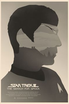 Star Trek III: The Search for Spock Movie Poster by Graphic Designer Simon C Page #startrek #spock