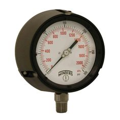 PPC Series 4.5 in. Black Phenolic Case Process Pressure Gauge with 1/2 in. NPT LM and Range of 0-300 psi/kPa