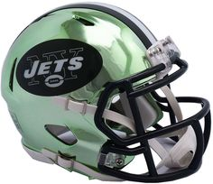 Riddell New York Jets Chrome Alternate Speed Mini Football Helmet   FootballHelmet Football Helmets For Sale 45e95bf53