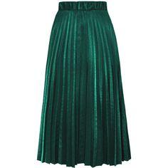 Accordion Pleat Midi Velvet Skirt ($19) ❤ liked on Polyvore featuring skirts, green midi skirt, velvet skirt, calf length skirts, mid calf skirts and midi skirt