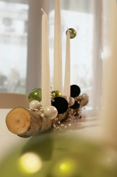christmas diy - drill candle holes in the wood