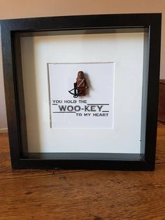 Items similar to Shadow Box Frame//Star Wars//Chewbacca//Minifigures//Personalise//Geek//Love//Gift/Father/Daddy/Fathers Day/Birthday/Mothers Day/Anniversary on Etsy Diy Father's Day Gifts, Father's Day Diy, Diy Crafts For Boyfriend, Star Wars Birthday, Birthday Box, Birthday Crafts, Birthday Parties, Star Wars Gifts, Box Frames