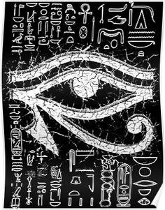 'Eye of Horus ' Poster by Lucifers Workshop 'Eye of Horus ' Poster by Lucifers Workshop Ojo Illuminati Tattoo, Tiki Tattoo, Egypt Tattoo, Ancient Egypt Art, Magick Book, Satanic Art, Framed Prints, Art Prints, Framed Art
