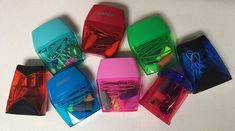 Why didn't I think of this before? Fill sharpeners with erasers and paper clips! The idea came from Dollar Tree, erasers only inside. Operation Christmas Child, Shoe Box, Kids Christmas, Dollar Tree, Charity, Children, Paper, Fill, Young Children