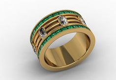 14k Yellow Gold Classic Engagement or Wedding by LUXARTJEWELRY, $2680.00