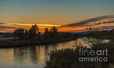 Morning Color Over The Payette River :  See more images at http://robert-bales.artistwebsites.com/