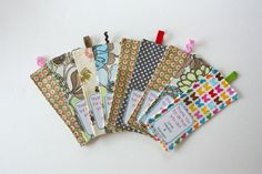 Fabric Bookmark with Pocket