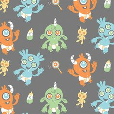 Monster Babies fabric on spoonflower.com