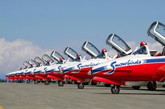 The Canadian Snowbirds Royal Canadian Navy, Canadian Army, Commonwealth, Fighter Aircraft, Fighter Jets, Canadian Things, Aerial Acrobatics, Canada Eh, Aircraft Photos