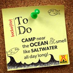 KOA Camping Bucket List - Camp near the ocean