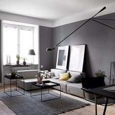 Beautiful grey walls on pinterest grey walls grey paint for Front room feature wallpaper