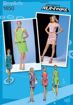 Simplicity Creative Group - Misses' & Miss Petite Dress Project Runway Collection 1650