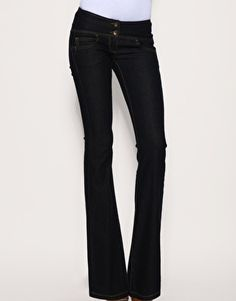 Enlarge ASOS Super Sexy Flare Jeans #17  dark wash flare jean to wear out with heels (size 27)