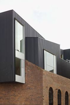 Image result for brick with metal cladding