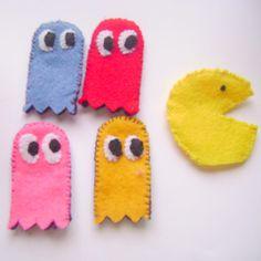 pacman finger puppets