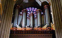 Katedra Notre-Dame w Paryżu – prospekt organów wielkich