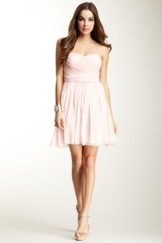 Jill Stuart Sweetheart Neck Belted Pleated Trim Dress great for a bridesmaid dress