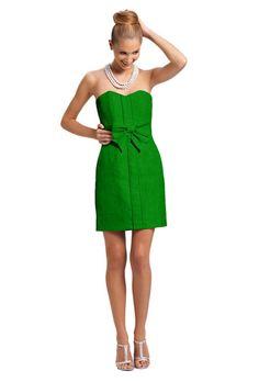Kelly green bridesmaid dress with bow. Kirribilla.