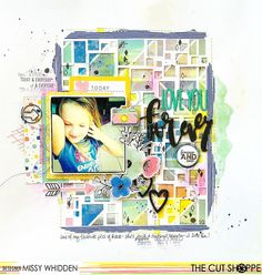 """The Cut Shoppe: Love You Forever by Missy Whidden uses """"Very Squarey"""" 12""""x12"""" cut file."""