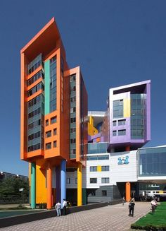 Pediatric center in Moscow with colorful exterior