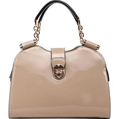 MKF Collection by Mia K. Farrow Amorous Lexi Shoulder Satchel - Nude -... ($49) ❤ liked on Polyvore featuring bags, handbags, shoulder bags, tan, faux leather satchel, satchel bag, vegan handbags, zip zip satchel and handbag satchel