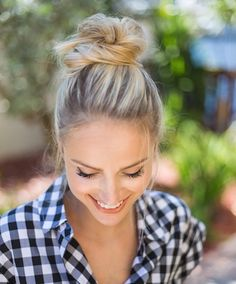 My favorite go-to hairstyle is a messy bun. Easy and fun! #DovePartner…