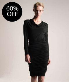 Cowl Neck Ruched Dress | Collection | ME+EM AW13 | ME+EM forest green