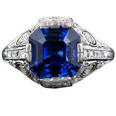 1stdibs.com   Tiffany & Company Art Deco Sapphire and Diamond Ring