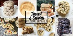 Recipe for the SOFTEST, THICKEST, and CHEWIEST Cookies you will ever have! Promise! Chocolate chip, double chocolate chip, oatmeal raisin, M&M cookies, Oreo Stuffed Cookies, Snickerdoodles and more!!