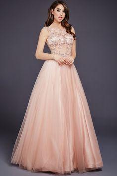 Halter a line prom dress jovani 24903