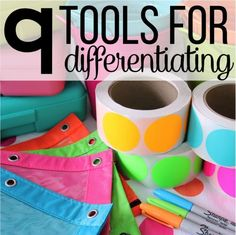 Nine Tools For Differentiating Instruction - Differentiated Kindergarten Keeping centers organized!