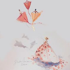 Paper Fashion #shadowdancers flying through the sky as kites...