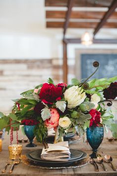 Exquisite floral centerpiece for wedding or bridal shower party American Spirit Works Wedding Decoration Table, Reception Decorations, Room Decorations, Floral Wedding, Wedding Flowers, Boho Wedding, Merlot Wedding, Wedding Rings, American Spirit