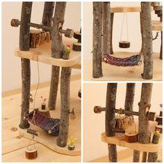 Maison en bois de l'arbre. Maison de poupée par FALLandFOUND