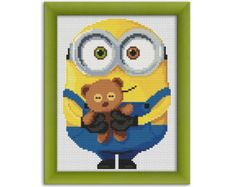 "PDF Cross Stitch Pattern ""Minion Bob"" Instant Download"