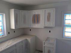 Finishing kitchen cabinets