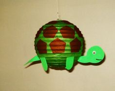 Party Decorations Baby by nicedecorations frog Paper Lantern. Party Decorations Baby by nicedecorations Paper Lanterns Party, Lanterns Decor, Turtle Birthday, Turtle Party, Purple Party Decorations, Pool Decorations, Lantern Craft, Ocean Party, Diy Papier