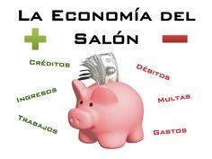 Economía del Salón (Classroom Economy) - Spanish, EDITABLE Color Coded Classroom Economy Posters in Spanish - Credits (Earnings, Jobs) Debits (Fines, Expenses) con Precios  Economía del Salón en Español en Color- Créditos (Ingresos, Trabajos) Débitos (Multas, Gastos) with Prices  Bank Ledger Cuenta Bancaria  Prize Log Récord de Recompensas